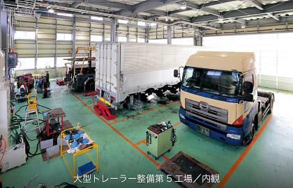 大型車整備第5工場 内観