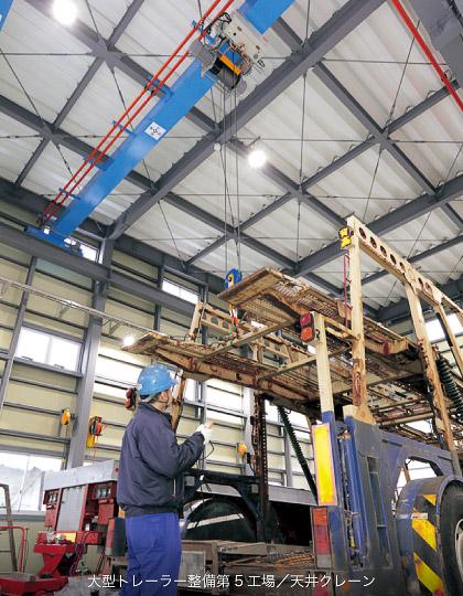 大型車整備第5工場 天井クレーン