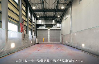 大型車整備第5工場 大型車塗装ブース